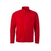 Куртка чоловіча флісова James&Nicholson, червоний, L