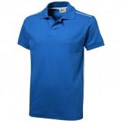 Футболка-поло чоловіча Backhand з короткими рукавами, розмір XXXL, синій
