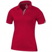 Футболка-поло жіноча Kiso спортивна з коротким рукавом, розмір L, червоний